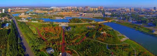 松阳河湿地公园 白云飞 摄