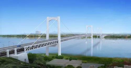 瓯江北口大桥工程效果图