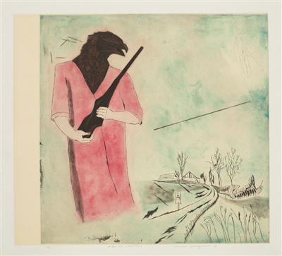 柳泽纪子版画作品《动物语言》