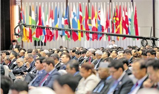 11月7日,第五届世界互联网大会在乌镇开幕。 记者 李震宇 倪雁强 魏志阳 摄