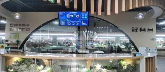 百官农贸市场智能服务台