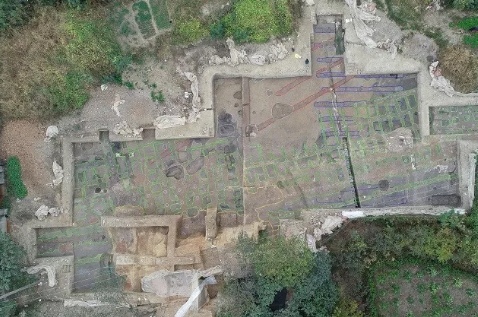 2018年毘山遗址西南部发掘区航拍照