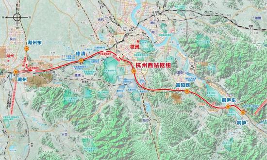 湖杭铁路线位图