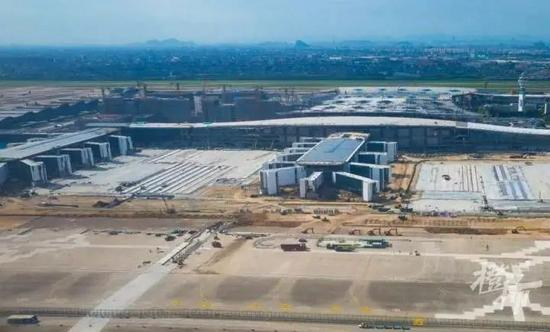 杭州机场新建T4航站楼初具规模 预计今年年底建成