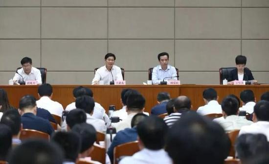 5月9日德清全县领导干部会议现场