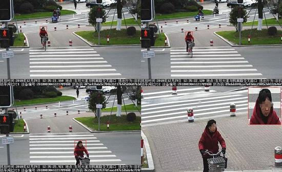 图为:视频感知技术和人脸识别功能进行自动抓拍并识别 台州公安供图
