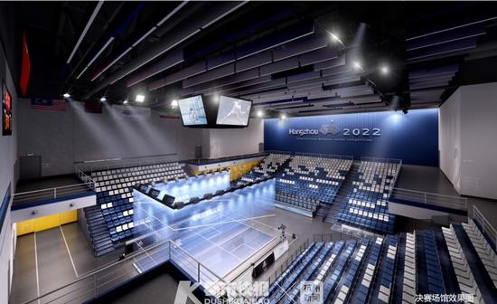 杭州国际博览中心4D展厅未来将变身亚运会壁球场馆
