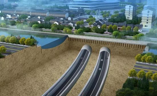 下穿京杭大运河段效果图