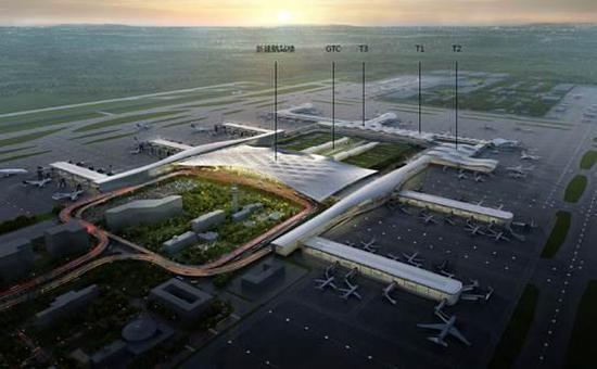 萧山机场三期效果图