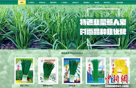 图为:销售劣质种子公司网址。平湖公安供图