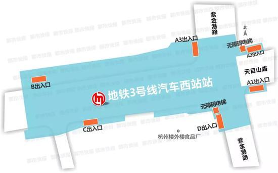 古荡站:位于古荡绿色广场南侧,设有3个出入口。