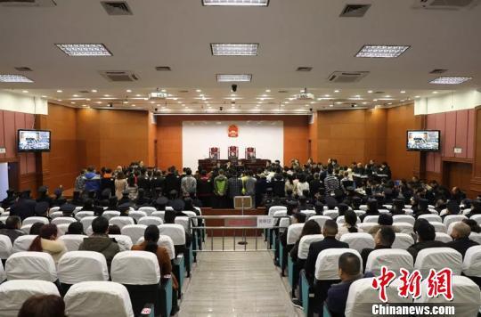 庭审现场。杭州中院 供图