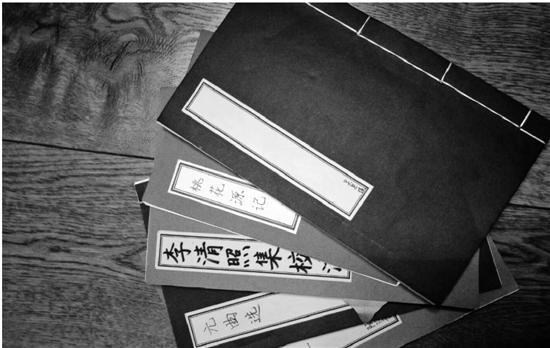 学生作业展示的线装书。 本文图片 钱江晚报