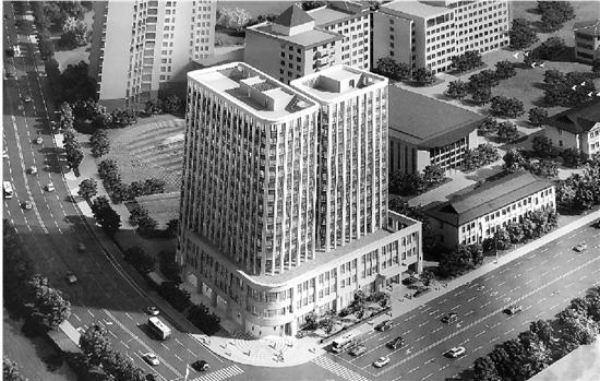 我们可以来看一下这幢大楼的效果图,以及下宁桥站东边的出入口位置(如下图)。
