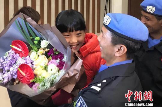 今年2月底,中国(浙江)第六支赴南苏丹维和警队凯旋。张斌 摄