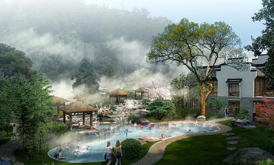 宁海森林温泉,俗称天明山南溪温泉▼