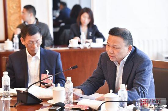 郑坚江代表发言