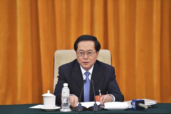 12日上午,浙江代表团举行第七次全体会议,审议全国人大常委会工作报告。浙江在线记者 梁臻 摄