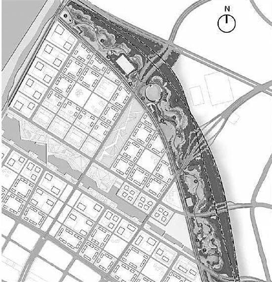 环形绿廊方位图。