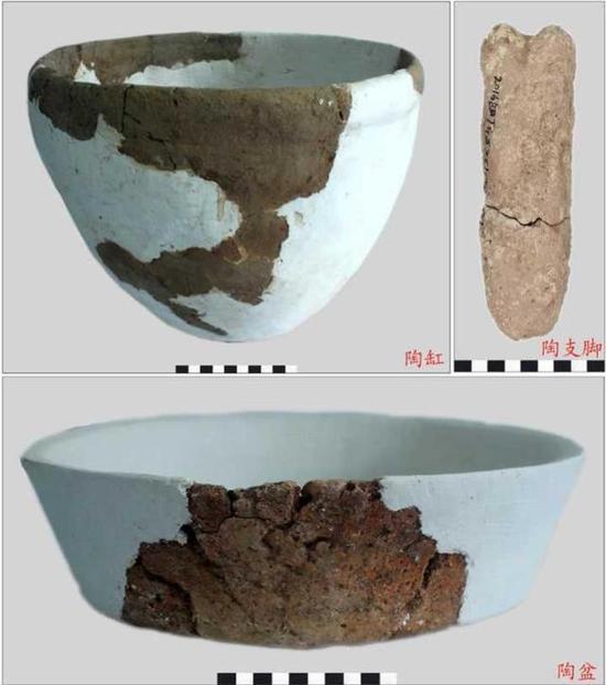 (大榭Ⅱ期遗存中发现的部分制盐陶器)