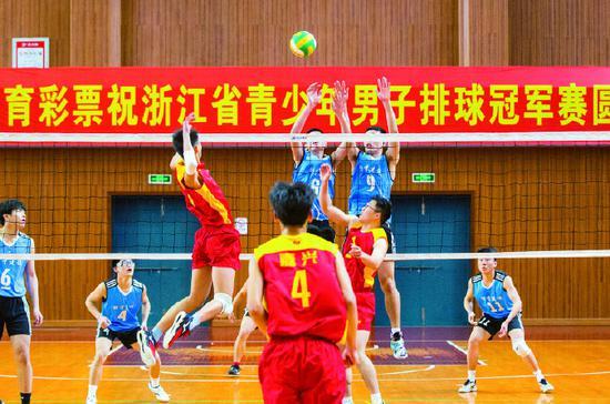 2021浙江省青少年男子排球冠军赛在象山县拉开帷幕