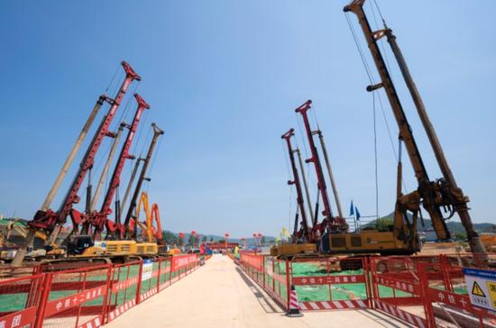 历经百日奋战 湖杭铁路站后工程进入全面施工阶段