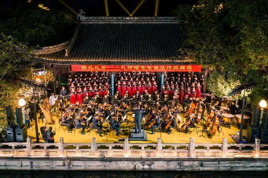 千年古乐传新声——浙音合唱交响音乐会在衢州南宗孔庙精彩上演