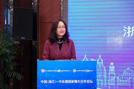 浙江金融职业学院校长、捷克研究中心主任郑亚莉