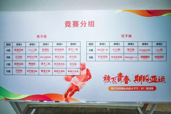 """""""放飞青春 期盼亚运""""浙江省迎亚运高校大学生三对三篮球比赛"""
