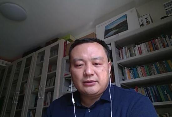 图:教育部财政学类专业教学指导委员会石绍宾秘书长直播连线画面