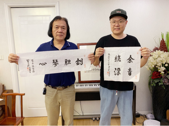 海派书画大家陈佩秋将绝笔留给了台州音乐家