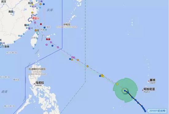 今年第1号台风尼伯特预计8日登陆浙闽沿海 线