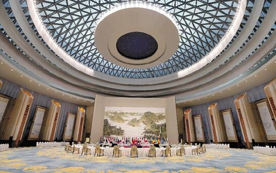 揭秘G20峰会主会场 会议厅的红木椅有上百斤重