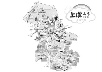 数学老师2年手绘上虞旅游地图:目标是把这本图册印成书