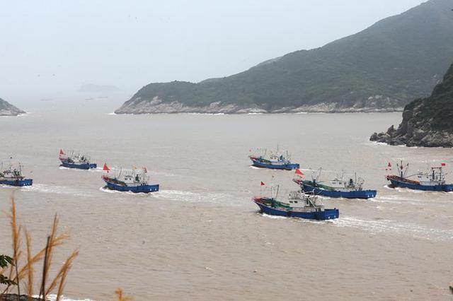 舟山大批渔船开赴渔场作业 结束为期3个月伏季休渔
