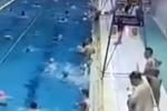 杭州一5岁娃跳进游泳池2.2米深水区 险溺水