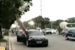 台州1宝马轿车突然起火 技术部航班延误