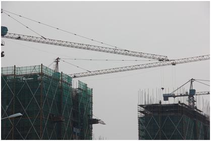 龙游子鸣社区安居工程(一期)正在建设,即将结顶