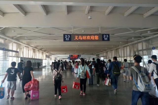铁路义乌站双节旅客发送360830人 同比增长17.1%