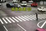 浙江一姑娘路口霸气停车 助行动不便市民安全过马路