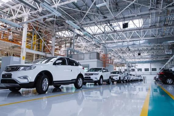 """""""白俄吉""""工厂生产的首款车型Geely Atlas(博越)"""