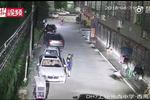浙江永嘉县城西中学旁小路 哥哥逼停车辆实力护妹