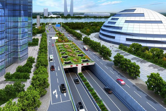 杭州博奥隧道江北主体施工 新业路有段缩到2车道