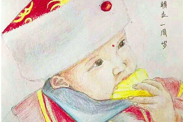 每月一张彩铅画 宁波女警用画笔绘出最诗意的母爱