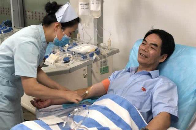 绍兴1男子20年来献血156次 超过24个成人的总血量