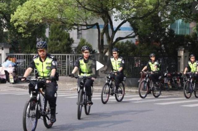 浙江杭州运河骑警巡逻防控保平安 赚足回头率