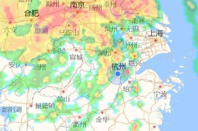 七夕夜杭州雷声轰隆大雨如注 网友:发誓的人太多了