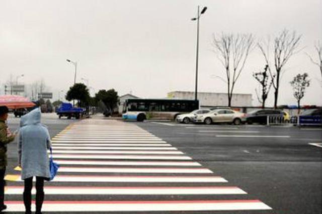 杭州东站现彩色立体斑马线 交通组织调整违者罚100元