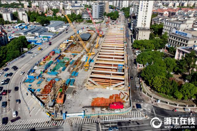 宁波镇海建设中的地铁 和城市一起迎来新的一周