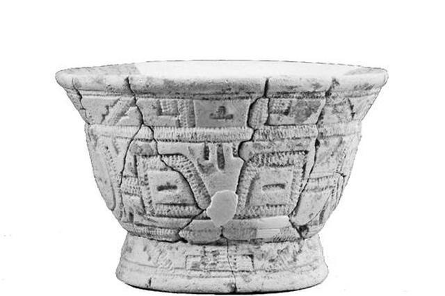 湖南白陶和良渚玉器图案相似 六千年前湘浙恐有联系